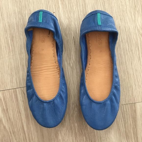 ab375b7f2d Tieks Sz 9 Cobalt Blue Ballet Flats Comfort EUC